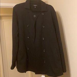 Torrid lightweight fleece button down coat